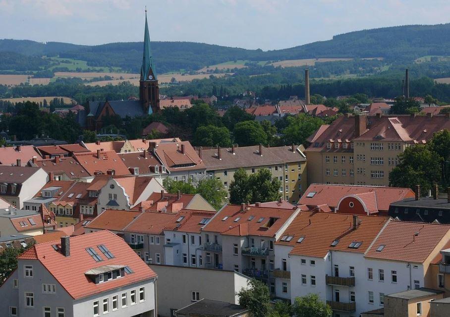město v Lužických horách v Německu